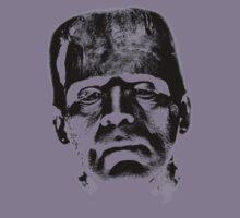 Frankenstein's Monster. Spooky Halloween Digital Engraving Image Kids Tee