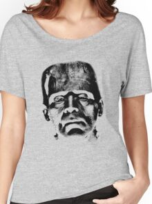 Frankenstein's Monster. Spooky Halloween Digital Engraving Image Women's Relaxed Fit T-Shirt