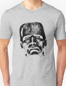 Frankenstein's Monster. Spooky Halloween Digital Engraving Image Unisex T-Shirt