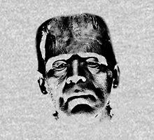 Frankenstein's Monster. Spooky Halloween Digital Engraving Image Hoodie