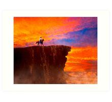 Sunset On The Wild West Art Print