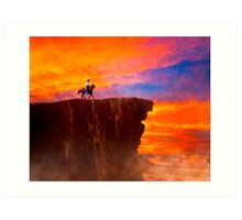 Sunset On The Wild West Art Print