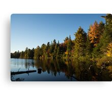 Fall Forest Lake - Reflection Tranquility Canvas Print