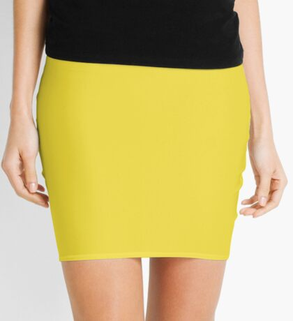 Buttercup | Pantone Fashion Color Spring : Summer 2016 | Solid Color Mini Skirt