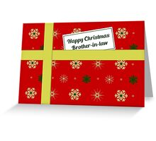 Brother-in-law red Christmas parcel card Greeting Card