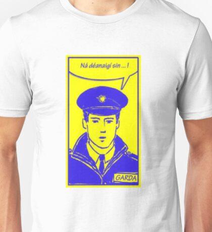 Sraith Pic Garda: Blue and Yellow Unisex T-Shirt