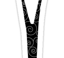 Scissors-Black Sticker