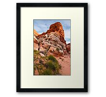Mojave Desert Sandstone Wash - Valley Of Fire - Nevada Framed Print