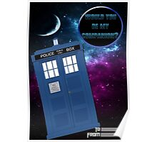 Would you be my companion? Tardis design Poster