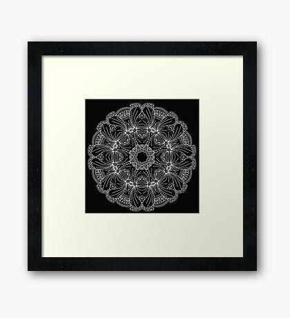 Round pattern Framed Print