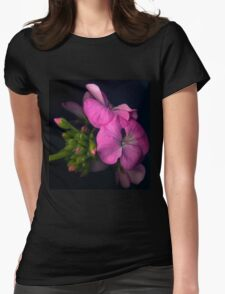 Pink perlagonium flower Womens Fitted T-Shirt