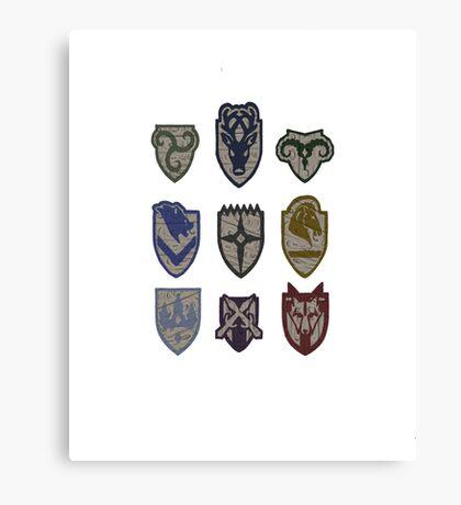 Skyrim Hold Logos Canvas Print