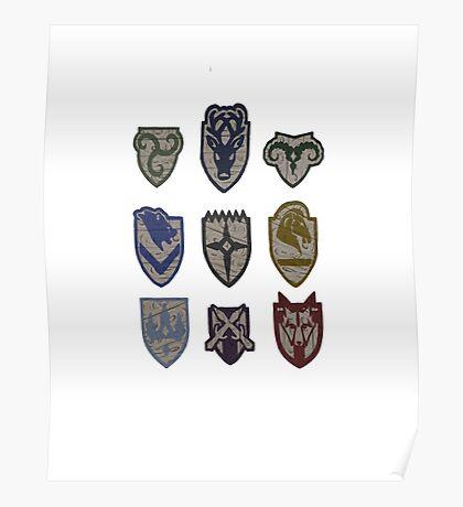 Skyrim Hold Logos Poster