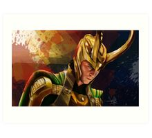 Loki Portrait Art Print
