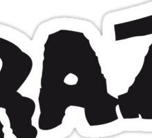 text schrift logo design cool crazy verrückt verwirrt blöd dumm komisch gestört  Sticker