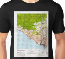 USGS TOPO Map California CA Ventura 301929 1941 62500 geo Unisex T-Shirt