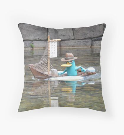 Perry Agent P Phineas Ferb Platypus  Throw Pillow