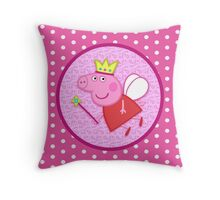 Peppa the Fairy Princess Throw Pillow Throw Pillow