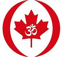 Hindu Canadian Multinational Patriot Flag Series Photographic Print