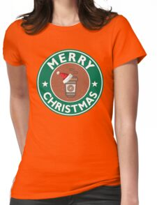 Festive Coffee Logo Womens Fitted T-Shirt