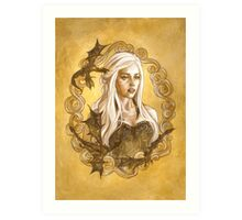 A Queen and her Dragons Art Print