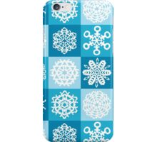 Checkered Snowflakes iPhone Case/Skin