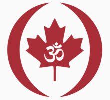 Hindu Canadian Multinational Patriot Flag Series Kids Tee