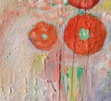 Abstract pastel flora Sticker