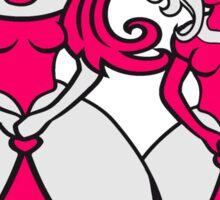 team freundinnen freunde hässlich kleid girl sexy frau königin prinzessin queen krone mädchen niedlich süß gesicht comic cartoon design cool crazy verrückt verwirrt blöd dumm komisch gestört  Sticker