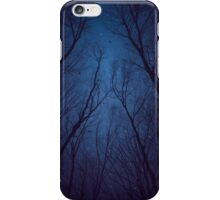 I Have Loved the Stars too Fondly (Night Trees Silhouette Abstract 2) iPhone Case/Skin