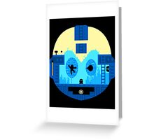 Retro Game Robot Greeting Card