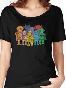 Retro Robot Squad Women's Relaxed Fit T-Shirt