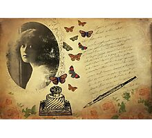 Vintage Woman Writer Photographic Print
