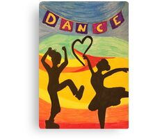 Dance in the Sunset Canvas Print