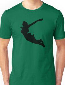 LARA CROFT SILHOUETTE SWAN DIVE (Tomb Raider Legend) Unisex T-Shirt