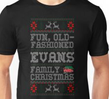 Fun Old Fashioned Evans Family Christmas Ugly T-Shirt Unisex T-Shirt