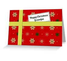 Grandpa red Christmas parcel card Greeting Card
