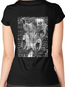 Caged Golden Lion Tamarin Women's Fitted Scoop T-Shirt
