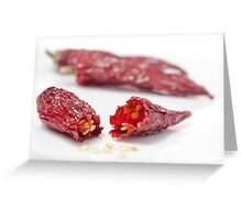 Dried Chillies #1 Greeting Card