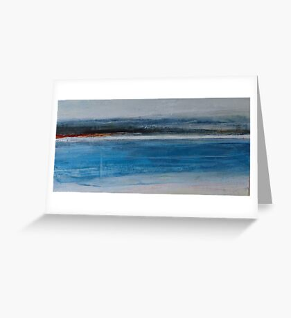 Across The Bay at  7pm Greeting Card