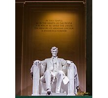 Lincoln Monument Photographic Print