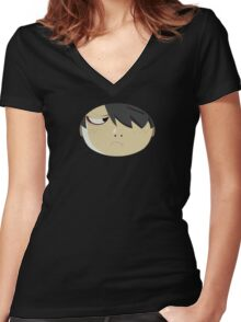 araragi(couple with hitagi) Women's Fitted V-Neck T-Shirt