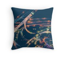 Abstract Streets: NIght Throw Pillow