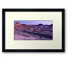 Valley Of Fire Road Sunrise - Nevada Framed Print