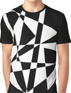 Black and White Scratches  Graphic T-Shirt
