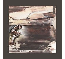 Not a tear shed... too busy on my iPhone - oil painting Photographic Print