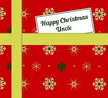 Uncle red Christmas parcel card by julesdesigns