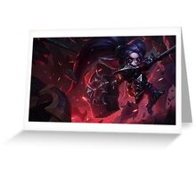 Noxus Poppy (With Challenger border + Mastery 6 ) Greeting Card