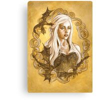 A Queen and her Dragons Canvas Print
