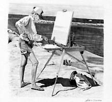 Painting Rock Harbor by J.D. Bowman